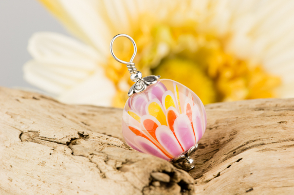 Multi-color Lotus Flower Pendant