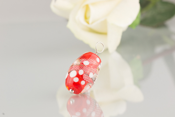 Red Silver Ladder Pendant