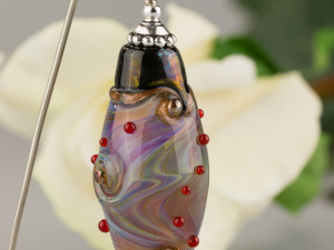 Purple Rose Opal Swirl Fantasy Pendant