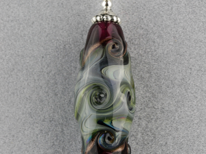 Deep Purple Tipped Opal Swirl Fantasy Pendant